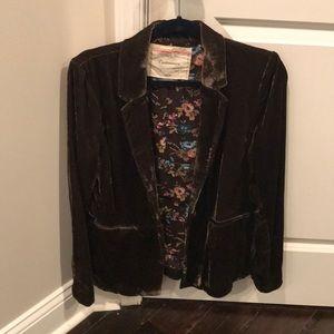 Anthropologie size 6 velvet blazer